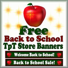 Free Back to School and Back to School Sale Banners for your TpT Store.  Follow my store to receive free seasonal banners! School Resources, Teacher Resources, Teacher Tips, Classroom Resources, Teaching Ideas, Classroom Ideas, Welcome Back To School, Back To School Sales, Beginning Of The School Year