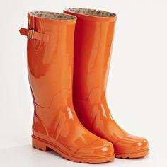 Splash in style with Orange MOZI gumboots. More #Orange on the RSD Blog.