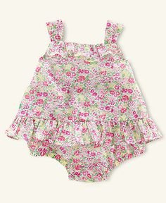 Ralph Lauren Baby Set, Baby Girls Floral Sun Layette Set - Kids Baby Girl (0-24 months) - Macys