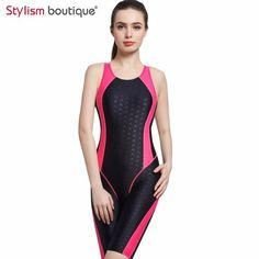 2017 Women Neck to Knee Competition Swimsuit Racing Suit One Piece Bathing suits One-piece Swimwear Girls Sport Swimsuits