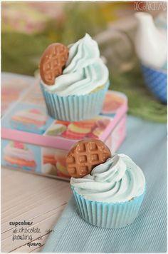 DECORECETAS: Cupcakes de chocolate con frosting de queso