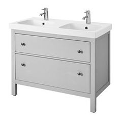 Hemnes Odensvik Sink Cabinet With 2 Drawers Gray