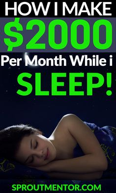 Let me show you how to make money online while you sleep. These are the best passive income ideas which will allow you to work from home. They are also ideal online jobs for anyone especially stay at home moms, teens, students and people without a college degree or past experience. #onlinejobs #workfromhomejobs #workathomejobs #stayathomejobs #money #finance #jobs #passiveincome #passiveincomeideas #makemoneyonline #makemoneywhileyousleep