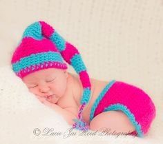 Night Cap and Diaper Cover Set  Crochet Night Cap  by JemsBoutique, $31.99