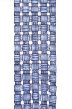 Squares on Squares; hand woven, wool, warp and weft shibori, acid dyes, felting -Kay Faulkner.