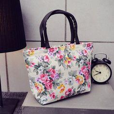 Fashional Floral Printing Design Women Flap Handbag