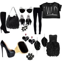 Selina Kyle/ Catwoman inspired Day/Night, created by stephthefall on Polyvore