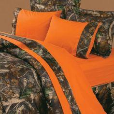 Buy Oak Camo Orange Sheet Set from Bed Bath & Beyond