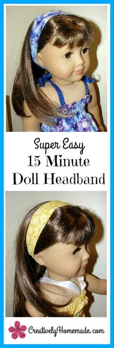 Making clothes for an American Girl doll? Then check out this tutorial to make an 18 inch doll headband from the leftover scraps.