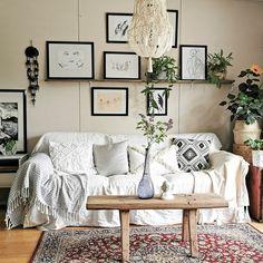 #living #room #boho #scandi #rustic #nordic #diy #style Gallery Wall, Rustic, Boho, Living Room, Diy, Home Decor, Style, Do It Yourself, Rustic Feel
