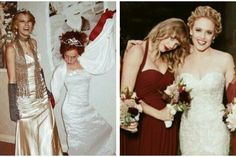 Friendship👭💓 She is so cute 💗💓💜 Taylor Swift Pictures, Taylor Alison Swift, Photo Recreation, Swift Facts, Before After Photo, Marvel Entertainment, Bridesmaid Dresses, Wedding Dresses, Role Models