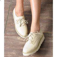 Platform Oxford Shoes #fashiondrop