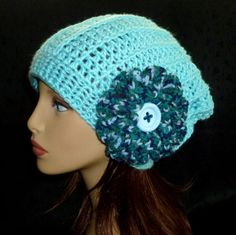 Slouchy Hat Crochet Womens Hat Winter Hats Womens by berly731