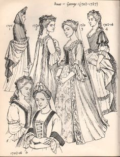 Early 1700's Women's Fashion.