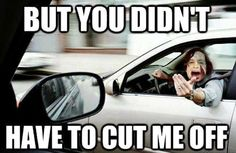 This is what I want to do to anyone who cuts me off on the road.