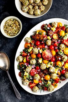 Heirloom Cherry Tomato Salad with Toasted Seeded Chèvre - #tomato #glutenfree - CaliZona