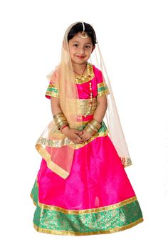 We provide radha rani lehenga pink golden fancy dress costumes for boy & girl in Noida, Buy and rent radha rani lehenga pink golden fancy dresses online in Delhi for Kids school annual functions or other cultural programs. Fancy Dress Online, Dresses Online, Characters For Fancy Dress, Pink Lehenga, Lehenga Choli, Saree, Golden Dupatta, Fancy Dress Competition, Vietnam Costume