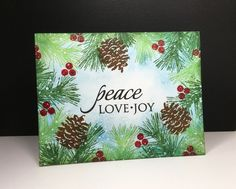 Nature's Gifts: Penny Black, sponging, OLC, one layer card, winter by beesmom at splitcoast