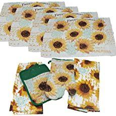 Shopping Cart Kitchen Linens Sets, Kitchen Towels, Kitchen Curtains And Valances, Picnic Blanket, Outdoor Blanket, Sunflower Kitchen, Kitchen Store, Organza Bags, Towel Set
