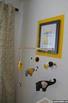 Yellow and gray girl's nursery