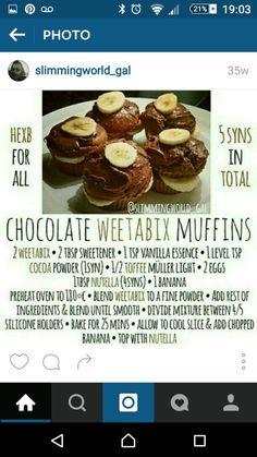 Chocolate weetabix muffins
