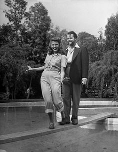 Rita Hayworth and Orson Welles - I've always loved this happy and care free shot of them.