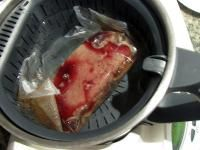 """Fantastic Medium Rare Steak done """"sous vide"""" style in my Thermomix"""