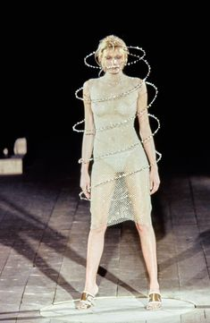 Shirley Mallmannweras Swarovski helix for Alexander McQueen - Spring 1999 Ready-to-Wear Collection - Photo - Vogue