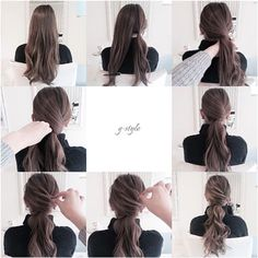 I think this would be an easy look for school... if I had long hair