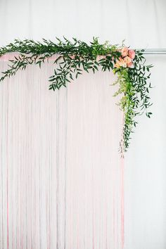 Tinsel and Twine Wall Backdrop