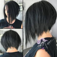 Short asymmetrical bob hairstyles for 2018 Best Picture For ombre hairstyles prom For Your Taste You Inverted Bob Haircuts, Bob Haircuts For Women, Round Face Haircuts, Short Bob Haircuts, Hairstyles For Round Faces, Short Hairstyles, Layered Hairstyles, Braided Hairstyles, Concave Bob Hairstyles