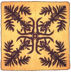 A very traditional Hawaiian Quilt from the last century~ love in every stitch....