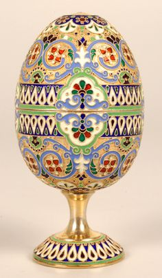 11TH ARTEL Enamel Egg  	1908-1917