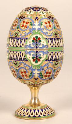 11TH ARTEL Enamel Egg  1908-1917