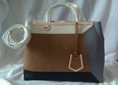NEW-AUTHENTIC-FENDI-2JOURS-COLORBLOCK-MEDIUM-TOTE