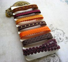 Fall Colors 10Yard Ribbon Trim Collection by mydivineinspiration, $2.99