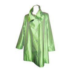1stdibs | Issey Miyake Asymetrical Silk Swing Coat