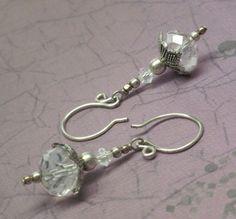 A Winter Ice Storm XIV Swarovski Crystal Earrings | JewelryByLis - Jewelry on ArtFire