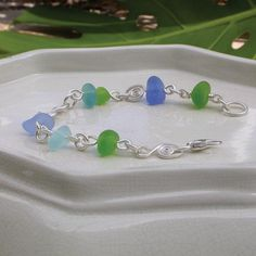 Bracelet with sea glass from California.