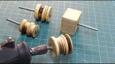 DIY: Dremel Leather Burnisher ( cheap & easy ) - Before After DIY Diy Leather Strap Cutter, Diy Leather Belt, Diy Leather Tools, Leather Working Tools, Sewing Leather, Leather Projects, Leather Tooling, Leather Crafts, Handmade Leather