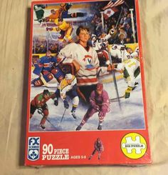 "FX Schmid Hockey Dreamer 90pc Jigsaw Puzzle 15.75x12.5"" Game Toy Sport 90112 NEW #FXSchmid"