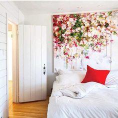 Vintage Golden Poppy Flower Painting Wallpaper Wall Decals Wall Art Print Mural Home Decor Gift Office Business Wall Decor, Wall Art, Living Room Paint, Living Rooms, Painting Inspiration, Flower Art, Contemporary Art, Modern Art, Interior Design