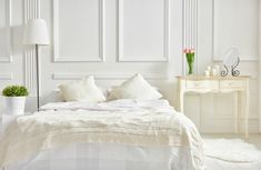 Some changes in your bedroom design can be aligned with the principles of how to Feng Shui your bedroom. The focus will be to let some good energy flow and allow your bedroom design to provide all the relaxation and peace you need. Small Furniture, Bedroom Furniture, Bedroom Decor, Cozy Bedroom, Bedroom Bed, Bedroom Ideas, Wall Decor, White Bedroom, Master Bedroom