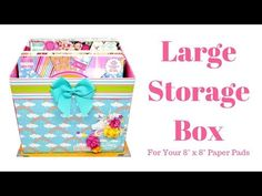 Tutorial 8 x 8 Storage Box. Base 11 x chipboard 3 mil bottom x DSP 10 x Paper Storage, Diy Storage, Storage Ideas, Craft Organisation, Gelli Plate Printing, Paper Crafts, Diy Crafts, Paper Art, Rainbow Paper