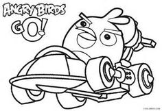 Printable Angry Birds Coloring Pages For Kids