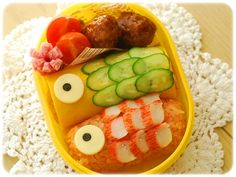 「鯉のぼりのおべんとう」:てしぱんさんの簡単かわいいおべんとさん:レシピブログ
