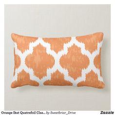 Silk Pillow, Lumbar Pillow, White Pillows, Throw Pillows, Quatrefoil, Artwork Design, Custom Pillows, Ikat, Art Pieces