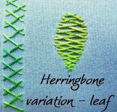 90 Best Herringbone Stitch images in 2017 | Herringbone