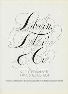 Tenth Letter of the Alphabet: Creator: Herb Lubalin, Part 8 - Hubie Clilverd Typography Poster Design, Typographic Poster, Typography Inspiration, Lettering Design, Types Of Lettering, Script Lettering, Typography Letters, Herb Lubalin, Rue Bonaparte Paris