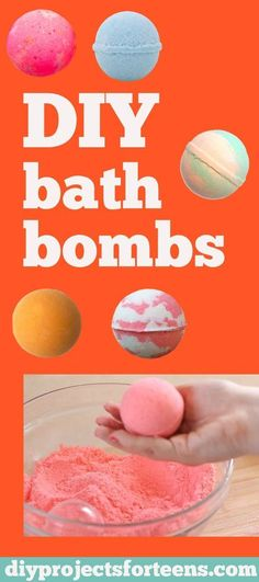 How to Make Homemade Bath Bombs Like Lush - DIY Bath Bombs Recipe and Tutorial - Fun DYI Beauty and Bath Gift - Cool DIY Projects and Crafts for Teens